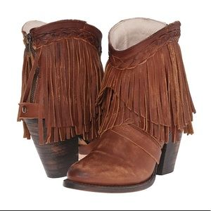 FREEBIRD TONTO Fringe Ankle Boots Great condition
